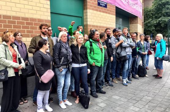 Rassemblement des travailleurs à Bruxelles. (Photo Solidaire, Françoise De Smedt)