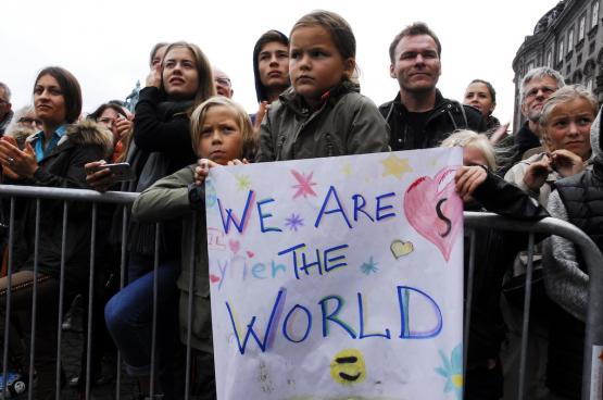 La politique du gouvernement n'est pas du goût de tout le monde. Comme en témoigne cette manifestation à Copenhague pour une politique d'accueil qui respecte les droits humain (Photo Flickr, Klaus Berdiin Jensen).