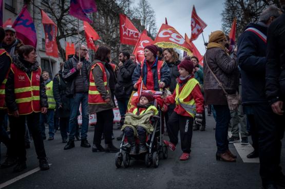 Lille, le 19 décembre. (Photo Solidaire, Jean-Philippe Wéry)