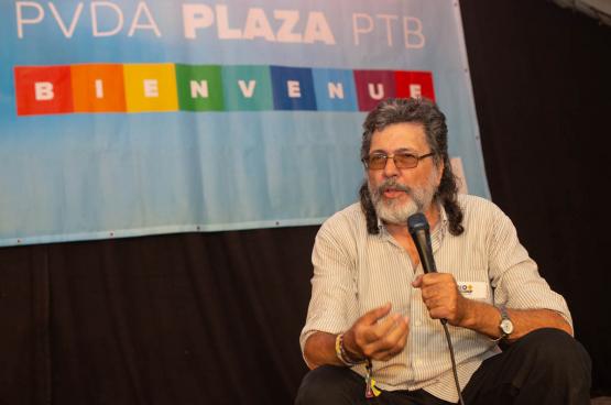 Abel Prieto, ancien ministre de la Culture à Cuba. (Photo Solidaire, Dieter Boone)