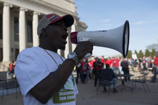 Les États-Unis connaissent un regain d'activisme syndical. Et trois quarts des nouveaux adhérents dans les syndicats aux USA ont moins de 35 ans (Photo Fibonnaci Blue, Flickr).
