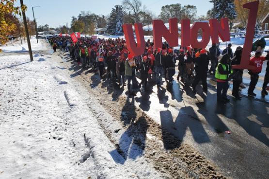 Les États-Unis connaissent un regain d'activisme syndical. Et trois quarts des nouveaux adhérents dans les syndicats aux USA ont moins de 35 ans (Photo FF15).