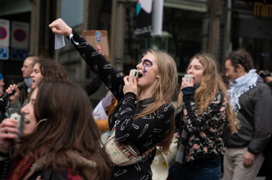 Le 8 mars, journée internationale de lutte pour les droits des femmes. (Photo Solidaire, Isabeau Fronville)