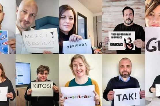 Les députés européens de la GUE expriment leur solidarité et leur gratitude avec les médecins, les infirmières, les soignants, les nettoyeurs, les employés des supermarchés, les chauffeurs et bien d'autres personnes risquant leur vie pendant l'épidémie de #Coronavirus.