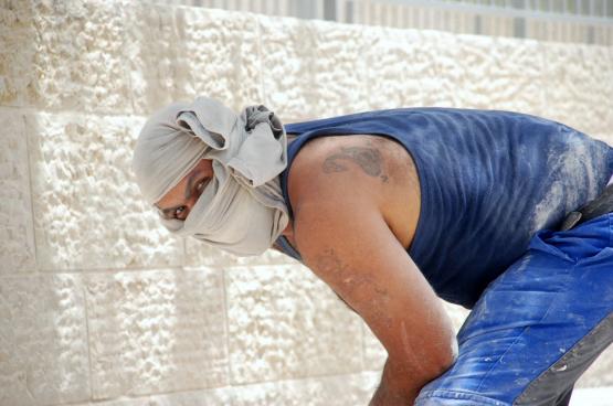 Les travailleurs palestiniens sont principalement employés dans l'agriculture, l'industrie ou la construction (photo Shlomit Or, Flickr).