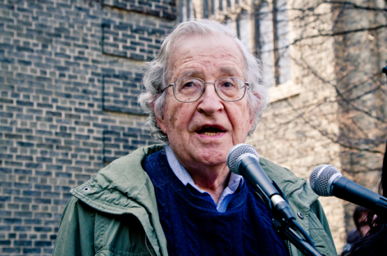 Noam Chomsky (Photo Andrew Rusk, Flickr)