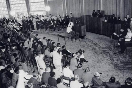 Cérémonie d'indépendance, 30 juin 1960. (Photo Congopresse)