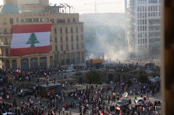 Le 8 août, quatre jours après la double explosion qui a rasé une partie de la capitale, Beyrouth, le peuple était de nouveau dans les rues. (Photo Shutterstock)
