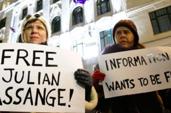 En 2010 déjà, des mobilisations avaient lieu aux États-Unis pour demander la libération de Julien Assange et une meilleure protection des lanceurs d'alerte. (Photo Flickr)