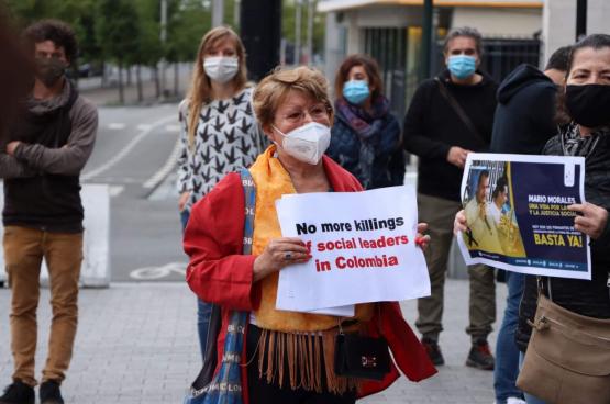 Plusieurs organisations se sont réunies pour une action de solidarité le 3 septembre à Bruxelles. (Photo Intal)