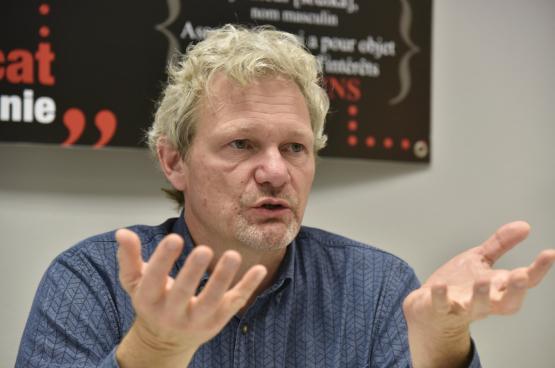 Thierry Bodson, Président de la FGTB. (Photo Solidaire, Antonio Gomez Garcia)