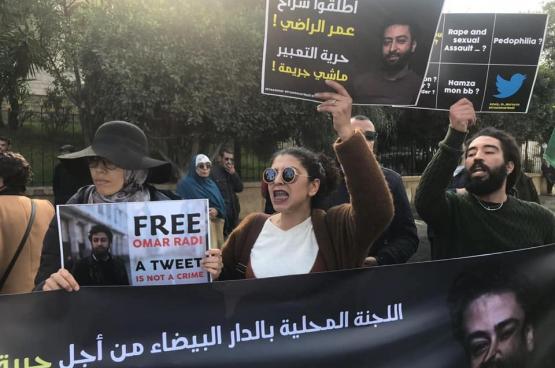 Partout au Maroc et en dehors, des rassemblements sont organisés pour exiger la libération immédiate du journaliste Omar Radi. (Photo Free Omar Radi)