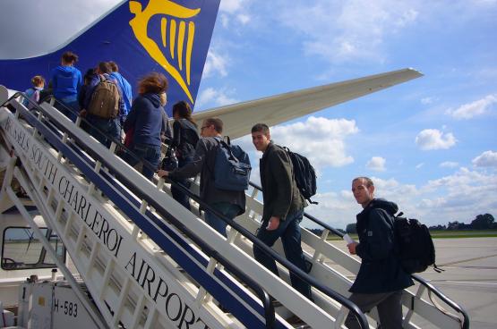 En 2012, l'Association européenne des compagnies aériennes a estimé que Ryanair a bénéficié en Europe de 800 millions d'euros d'aides diverses. (Photo PanaTomix, Flickr)