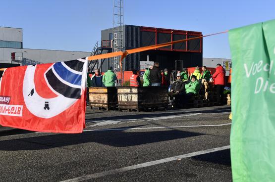 Les travailleurs d'AB InBev ont mené des actions l'année dernière pour la sécurité de l'emploi et des salaires décents. (Photo Belga)