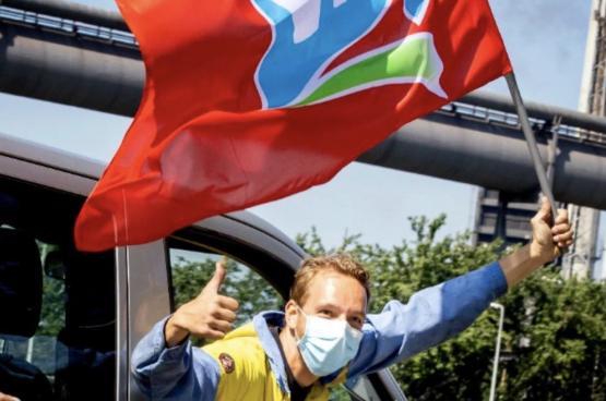 En 2020, les travailleurs de Tata Steel ont fait grève pendant 24 jours. Ils ont obtenu à peu près toutes leurs revendications. (Photo FNV TataSteel)