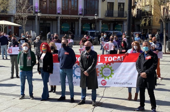 Mobilisation syndicale en front commun. (Photo CCOO)