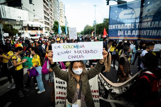 « En Colombie, ils tuent des civils » (Photo Belga)