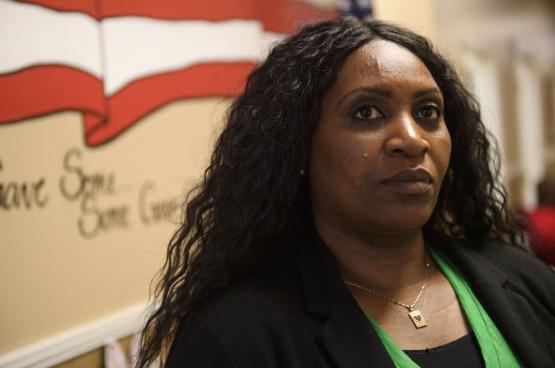 Jennifer Bates, une ouvrière qui a fait bouger le président des États-Unis. (Photo AFP)