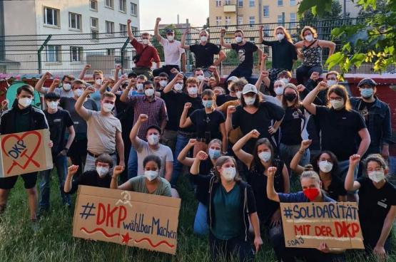 Photo SDAJ, le mouvement de jeunes du DKP.