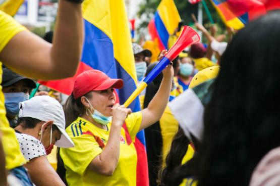 Le 1er Mai dernier a été, en Colombie, l'occasion pour le peuple de manifester son opposition aux réformes libérales du gouvernement. (Photo Juan Gonzalez)